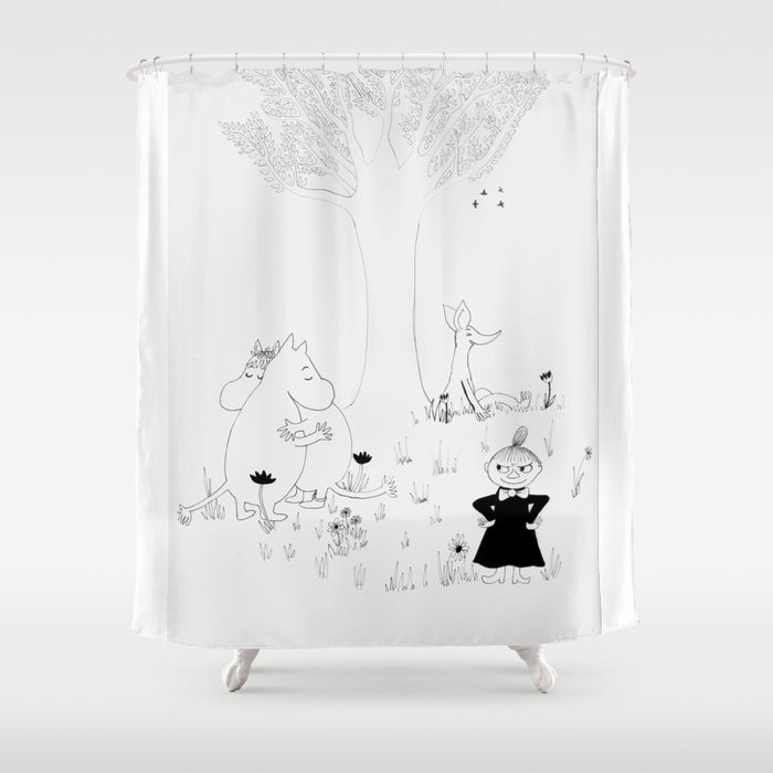 Moomin Love Shower Curtain by indie_bindie | Society6