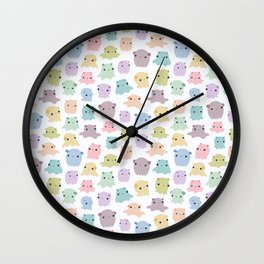 Colourful dumbo octopus pattern Wall Clock