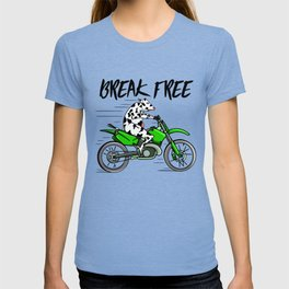 Cow riding a motorbike T-shirt