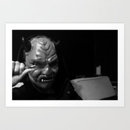 Inspector Devil  Art Print