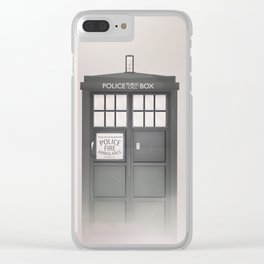 Vintage Police Box Clear iPhone Case