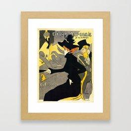 Toulouse Lautrec Divan Japonais music hall Framed Art Print