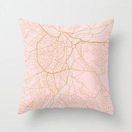 Sheffield map, England Throw Pillow
