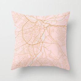 Sheffield map, England Throw Pillow