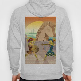 trojan war and troy horse Hoody