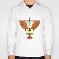 airbender Hoodies featuring Yip Yip by Ashley Hay