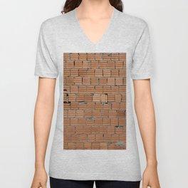 brick wall Unisex V-Neck