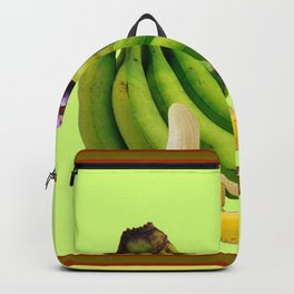 YELLOW-GREEN BANANAS GREEN GRAPES ART DESIGN Backpack