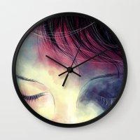 sleep Wall Clocks featuring Sleep  by margaw