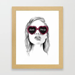Bitch Plz Framed Art Print