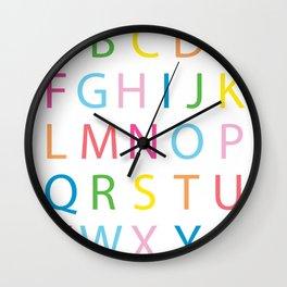 Colorful Alphabet Wall Clock