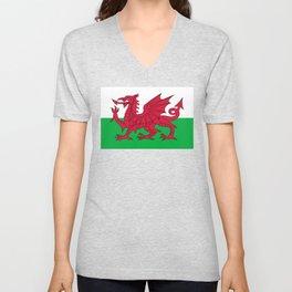 Welsh Flag Unisex V-Neck