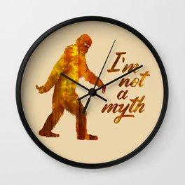 """Big Foot """"I'm not a Myth"""" Wall Clock"""