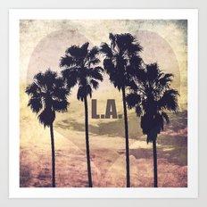 L.A. Love Art Print