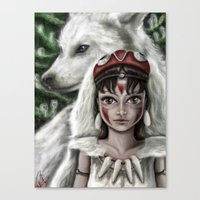 mononoke Canvas Prints featuring Mononoke by goodgirl_arcee