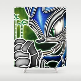 Blue Hedgehog Shower Curtain