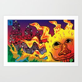 Receive a Smile from the Sun Art Print