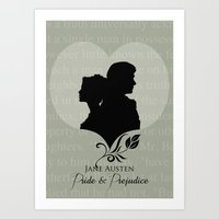 pride and prejudice Art Prints featuring Pride and Prejudice by Clarc