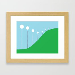 Abstract Landscape - Lights on the Hill Framed Art Print