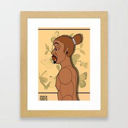 1001 Black Men--#503 Framed Art Print