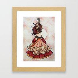 Belly Dancer Ember Framed Art Print