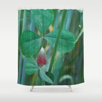 clover Shower Curtains featuring Clover by Christine baessler