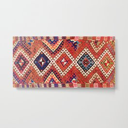 Kirghiz Afghanistan Central Asian Rug Print Metal Print