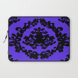 Victorian Damask Purple and Black Laptop Sleeve