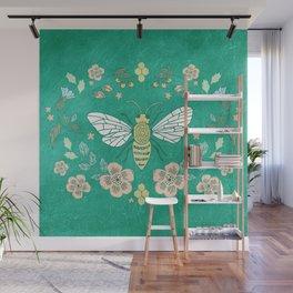 Bee Garden Wall Mural