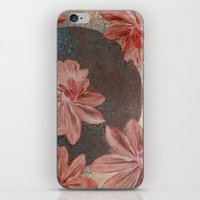 leah flores iPhone & iPod Skins featuring Flores by MACACOSS