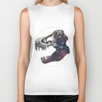 trex Biker Tanks featuring Galaxy trex by Fallen amongst the wolves