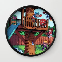 The Avenger Tykes Wall Clock