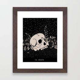 13. DEATH Framed Art Print