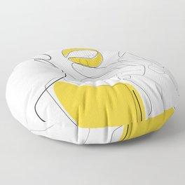 Bold Mustard Lip Floor Pillow