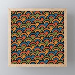 Pop Fan Pattern Framed Mini Art Print