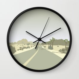 Joshua Tree Park - On the road Wall Clock