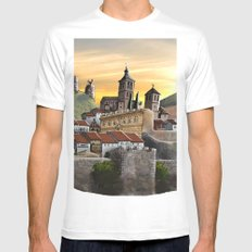 Cogolludo Sunrise Mens Fitted Tee MEDIUM White