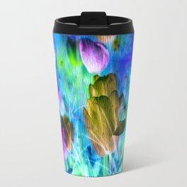 Blue Ocean of Tulips Travel Mug