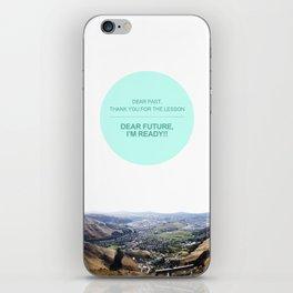 Dear Past, Dear Future iPhone Skin
