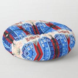 British Blue Police Public Call Box - Nexus 32 Floor Pillow