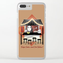 No Face Kaonashi Selling Udon Clear iPhone Case