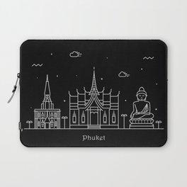 Phuket Minimal Nightscape / Skyline Drawing Laptop Sleeve