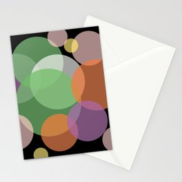 Overlapping - Purple Green Orange Stationery Cards