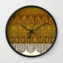 crochet lace in cream Wall Clock