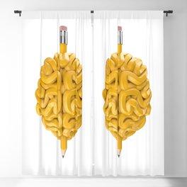 Pencil Brain Blackout Curtain