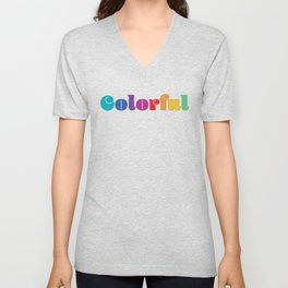 Colorful Unisex V-Neck