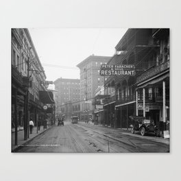 St. Charles Street from Canal, New Orleans, LA Canvas Print