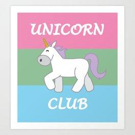 Polysexual Pride Flag Unicorn Art Print
