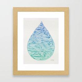 Ombré Droplet Framed Art Print