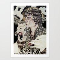 superwholock Art Prints featuring The Hounds by Savana Jonau